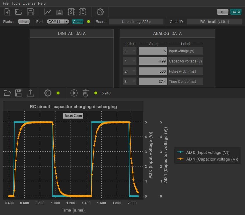 HITIPanel, GUI for Arduino, Arduino user interface, Arduino data acquisition, Arduino excel, Arduino control panels, Arduino control and monitoring.